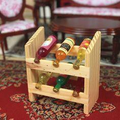 1:12 MINI casa de bonecas em miniatura de vinho e vinho Mais