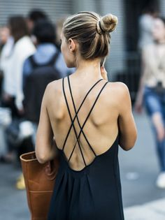 Black strappy sun dress