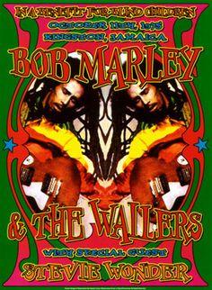 Bob Marley & Stevie Wonder, Kingston, Jamaica, 1975 Dennis Loren Fine Art Print Poster