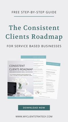 Want to attract your dream clients but not sure where to start? That's where The Consistent Clients Roadmap will help. Download your free step-by-step guide today. #marketingtips #consistentclients #coaching #marketingcoach #businesscoaching #servicebusiness || How to attract your dream clients || Get more clients for your service business Business Planning, Business Tips, Online Business, Etsy Business, Creative Business, Small Business Marketing, Marketing Plan, How To Get Clients, Thing 1