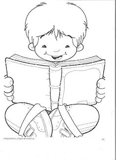 Many children reading coloring pages School Coloring Pages, Colouring Pages, Coloring Sheets, Adult Coloring, Coloring Books, Kids Coloring, Human Drawing, Line Drawing, Clipart Boy