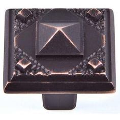 Atlas Homewares - Craftsman Corner - California 1 Square Pyramid Knob in Venetian Bronze Kitchen Cabinet Knobs, Cabinet Decor, Cabinet Hardware, Craftsman Kitchen, Bronze, Square, Arts And Crafts Movement, Kitchen Styling, Timeless Design