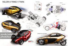 Velotrix Z photo by Motorised Bike, Reverse Trike, Z Photo, Futuristic Cars, Cool Websites, Concept Cars, Metal Working, Cafe Racers, Gaia