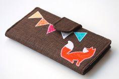 Fox Wallet Bifold Handmade Applique Women's by BrooklynLoveDesigns, $45.00