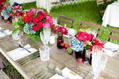 #tablescapes, #centerpiece  Photography: Karen Buckle Photography - karenbuckle.com.au Event Design + Styling: CL Weddings & Events - clweddingsandevents.com.au/ Bouquets + Ceremony Floral Design: Mondo Floral Designs - mondofloraldesigns.com.au Reception Floral Design: Twig & Grace - twigandgrace.com/  Read More: http://www.stylemepretty.com/2013/06/04/australia-wedding-from-karen-buckle-photography/