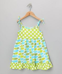 Take a look at this Blue Jellybean Fish Ruffle Dress - Infant, Toddler & Girls by Flap Happy on #zulily today!