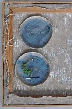 Katie Coston Pottery Porcelain Shallow Blue Plate