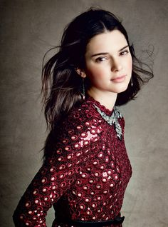 Vogue Editorial December 2014 - Kendall Jenner by Patrick Demarchelier