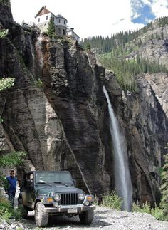 Black Bear Pass, Telluride, CO | Bridal Veil Falls, the TALLEST falls in Colorado (over 400 feet), and the Bridal Veil Hydroelectric Plant, the FIRST powerplant in the WORLD to generate, transmit and sell alternating current electricity for commercial purposes.