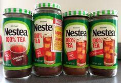 Nestea from the the Nestea Plunge! My dad drank gallons of Nestea. Sweet Memories, Childhood Memories, Childhood Toys, 80s Food, Retro Food, Vintage Food, Vintage Ads, Tea Jar, Vintage Packaging