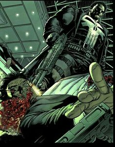 Punisher by Lan Medina, Bill Reinhold and Raul Trevino Comic Book Characters, Comic Book Heroes, Marvel Characters, Comic Character, Comic Books Art, Comic Art, The Punisher, Punisher Comics, Marvel Dc