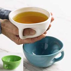 Buddha bowl for zen like tea drinking....looks especially good for warming cold hands! >> Lovely!