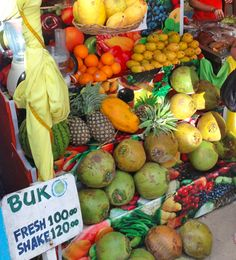 Fresh fruit stand in the Phillipines