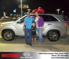 Happy Anniversary to Fredy Kia on your 2013 #Kia #Sorento from  everyone at Westside Kia! #Anniversary