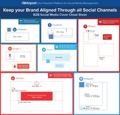 How to Keep your Brand Aligned Through All Social Media Channels: Cover-photos