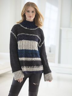 Ravelry: Color Block Sweater pattern by Vladimir Teriokhin