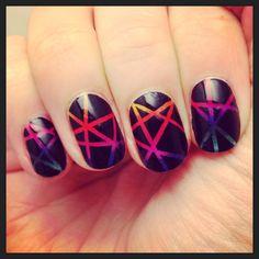 Edgy rainbow nails