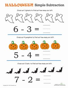 Halloween Math Worksheets For Kids – Mreichert Kids Worksheets Halloween Math Worksheets, Kindergarten Math Worksheets, Worksheets For Kids, Education Quotes For Teachers, Quotes For Students, Quotes For Kids, Math Education, Math For Kids, Fun Math