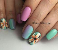 Nail Arts Design and Colors for Summer Glitter Nail Art, Nail Art Diy, Diy Nails, Manicure Ideas, Crazy Nail Art, Crazy Nails, Spring Nail Art, Spring Nails, French Nail Art