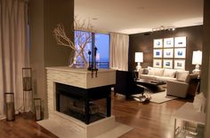 3 Sided Fireplace Insert Home Design Ideas