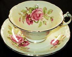 Paragon Elaborate Vanilla Cream Tea cup and saucer Teacup | eBay
