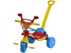 Triciclo Infantil Biemme com Empurador - Smile Confort Haste Removível com as melhores condições você encontra no Magazine Kelycecilio. Confira!