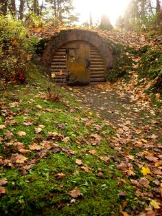 This is a hobbit hole we found while exploring a park in Palanga, Lithuania. Isn't it just the best for fall?