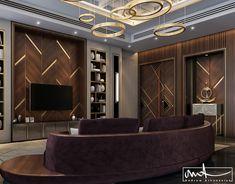 wood & gold on Behance Bedroom Bed Design, Modern Bedroom, Master Bedroom, Tv Unit Bedroom, Luxury Interior Design, Luxury Home Decor, Lcd Unit Design, Lcd Units, Living Room Tv Unit Designs