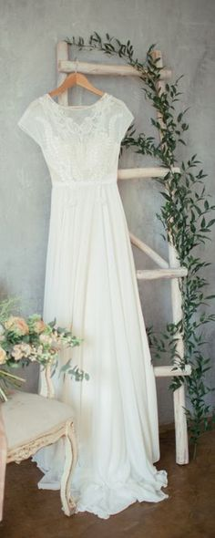 Boho wedding dress 'TEONA' / Bohemian Wedding Dress