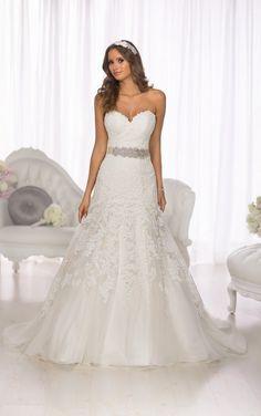 D1679 Lace Vintage Wedding Dress by Essense of Australia