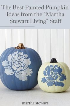 Martha Stewart Living editors share their favorite ways to decorate a pumpkin that is perfect for Halloween and for the fall season. Create your own beautiful fall or Halloween decor with one of these easy pumpkin decorating ideas. #marthastewart #pumpkins #diypumpkins #falldecor #halloween