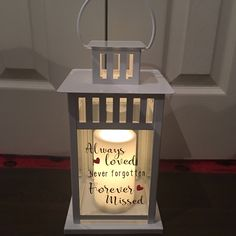 In Loving Memory Lantern for any occasion where you want to remember a loved one… Wedding Lanterns, Lanterns Decor, Wedding Decorations, Decor Wedding, Lantern Crafts, Wedding Lighting, Wedding Ideas, Wedding Pictures, Funeral Reception