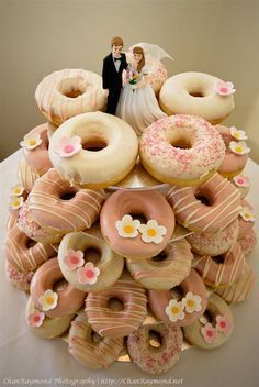 wedding donuts - Google Search                                                                                                                                                                                 More