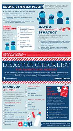 Get Ready. Get Safe. | Disaster Checklist for parents Save the Children Emergency Binder, Emergency Preparedness Kit, Family Emergency, Emergency Preparation, Emergency Supplies, Survival Prepping, Survival Skills, Emergency Planning, Survival Gear