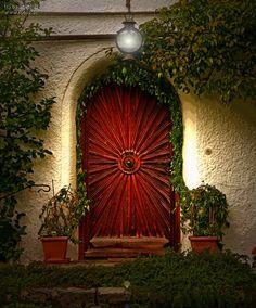 Sundial door  we hide behind the Crimson Door  lyrics by Ville Valo of HIM & The red door | Doors and windows | Pinterest | Doors Gates and ...
