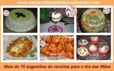Sugestões de receitas para o dia das Mães - Espaço das delícias culinárias