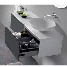 Mueble de Baño CLAUDIA Modern Bathroom Cabinets, Bathroom Shelves, Bathroom Furniture, Bathroom Design Small, Bathroom Interior Design, Washbasin Design, Bedroom False Ceiling Design, Hotel Room Design, Dressing Room Design