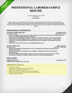 How To Write A Construction Resume Endearing When People Think That They Need A Help For Writing A Quality Resume .