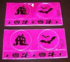 Halloween Safety Reflectibles 6 Count Hot Pink Reflectible Stickers  #WonderTreats
