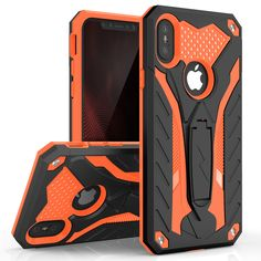 Zizo Static Series Compatible with iPhone X case with Kickstand Military Grade Drop Tested Impact Resistant Heavy Duty Case iPhone Xs Blue Black Rugged Tablet, Future Iphone, Diy Pop Socket, Pop Sockets Iphone, Cool Iphone Cases, New Iphone, Apple Iphone, Tablets, Protective Cases