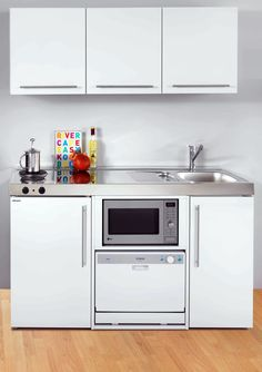 Mini kitchens, solutions for small spaces Micro Kitchen, Compact Kitchen, Kitchen Sets, Kitchen Decor, Small Loft Apartments, Small Apartment Interior, Small Apartment Kitchen, Studio Kitchen, Cuisines Design