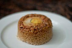 Steamed chicken rice, step by step