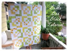 Bento Box blocks create a really amazing pattern once they're arranged into a quilt.  What looks like a complicated layout is really very ...