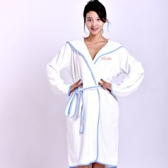 Personalized Embroidered Luxury Cotton Hooded Robe Solid Spa Terry Hooded  Robes  MMY  Bathrobe Robes feb732677