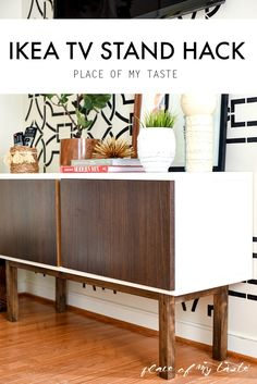 I can't believe this was a simole shelving unit. Great IKEA hack!! love it!