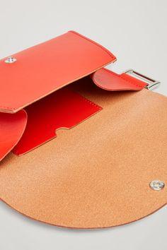 DETACHABLE LEATHER BELT BAG - Brick red - Accessories - COS DE