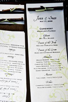 Fun idea: put brain teasers on your wedding ceremony programs to ...