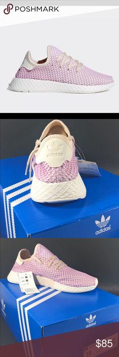 buy popular 431a6 287c1 NEW Adidas Womens DEERUPT Sneakers Adidas Original B37600 Womens DEERUPT  Clear Lilac Cushion Sole Sneakers Size