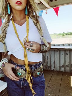 The Perfect Necklace from layering to throwing it on alone with a graphic tee. Handmade of course, by yours truly Cowgirl Chic, Western Chic, Cowgirl Style, Western Wear, Gypsy Cowgirl, Cowgirl Tuff, Western Boots, Cowgirl Outfits, Western Outfits