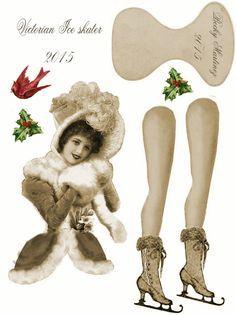 Victorian Paper Dolls, Vintage Paper Dolls, Vintage Crafts, Christmas Paper, Christmas Crafts, Xmas, Victorian Christmas, Vintage Christmas, Paper Art